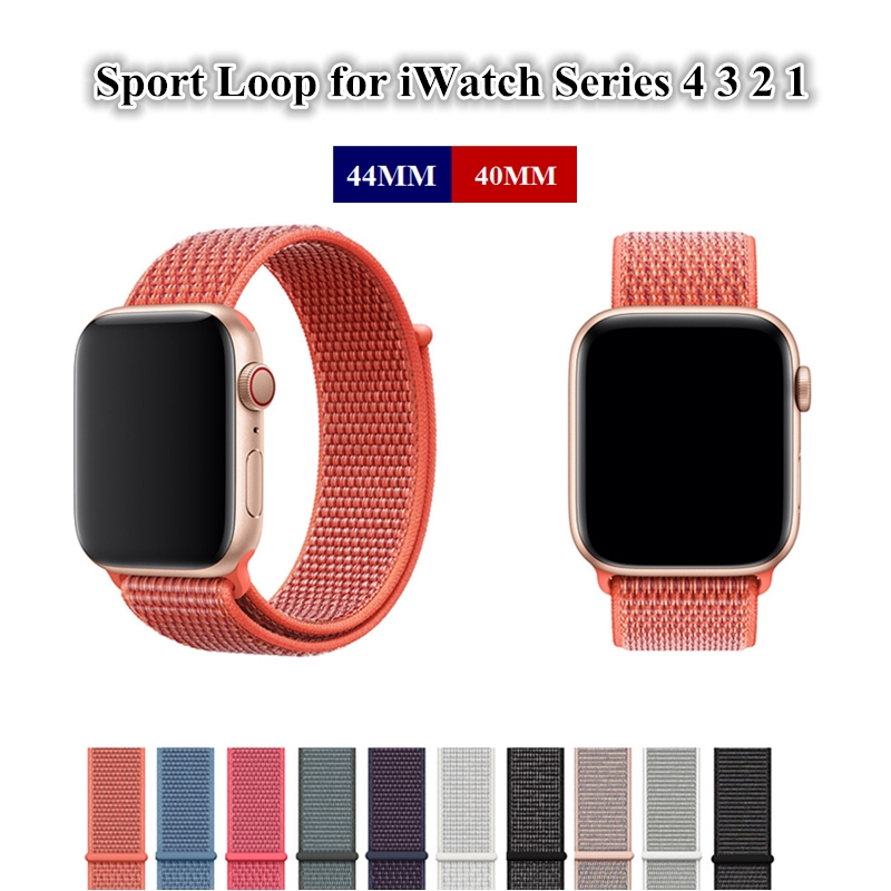 Nylon Sport Loop Strap for Apple Watch Band 44MM 40MM Woven Replacement Bracelet for iWatch Series 4 3 2 1 42MM 38MM Wristband sport loop for apple watch band case 42mm 38mm nylon watch strap bracelet with metal frame protector case cover for iwatch 3 2 1