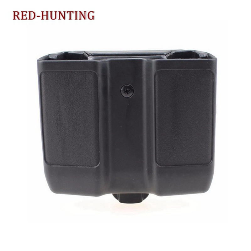 Durable Quick Draw Double Magazine Mag Pouch Case Stack Duty Belt Matte for Colt 1911 image