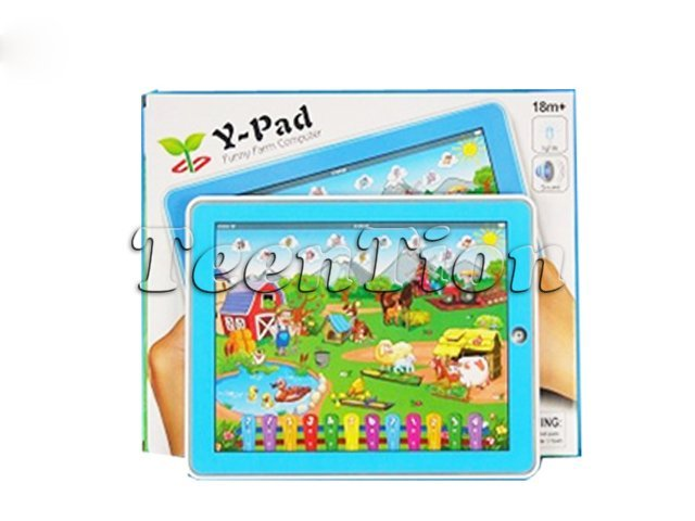 hot sales 36pcs/lot Farm-in-a-Tablet Toy Y-pad Table computer handle farm kid learning machine educational toys Free Shipping