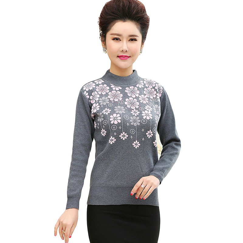 Women Pullover Sweater 2017 Winter New Print Fashion Warm Pullovers High Quality Candy Colors Pull Femme