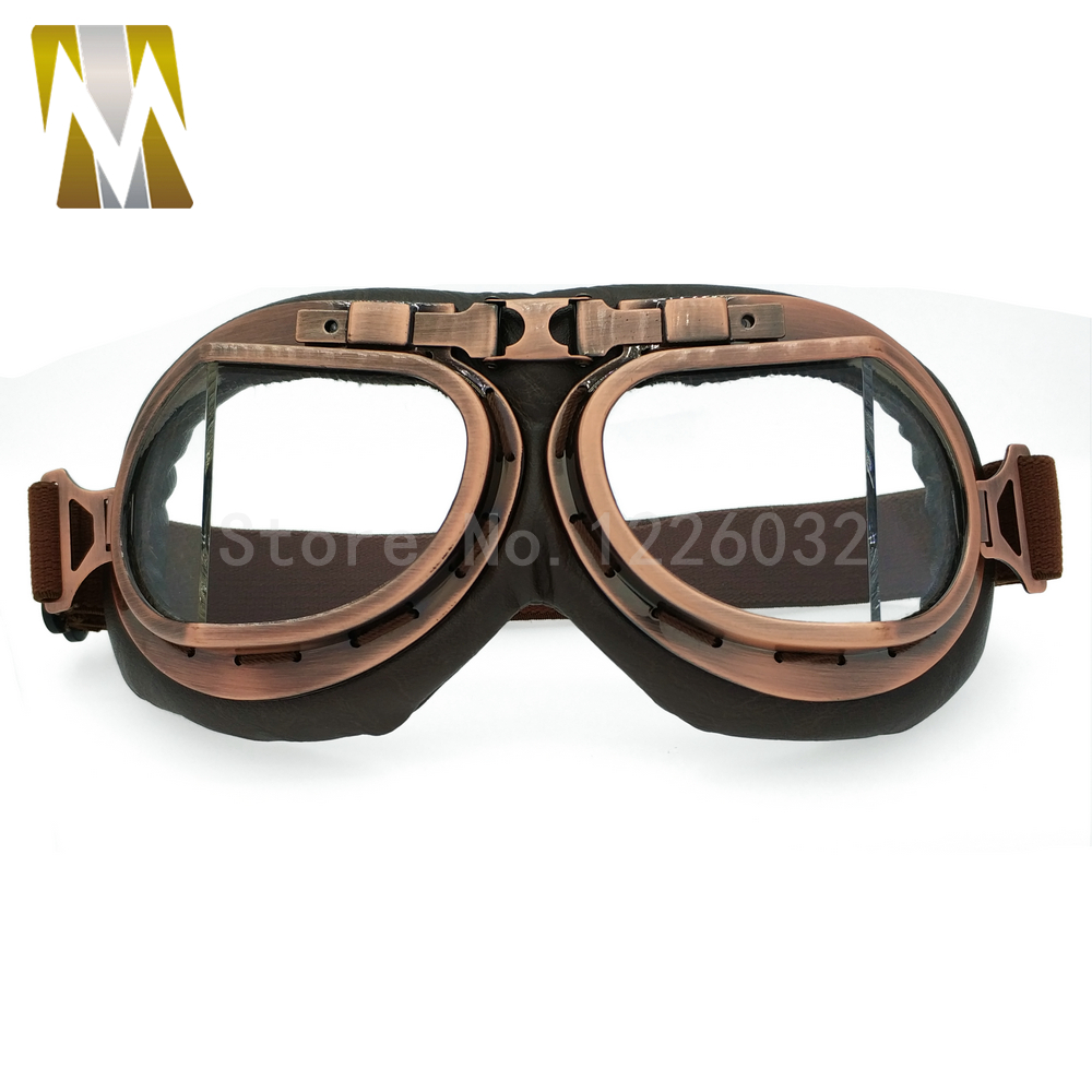 2017 NEW WWII Vintage style motorcycle gafas motocross moto goggles Scooter Goggle Glasses Aviator Pilot Cruiser For Harley