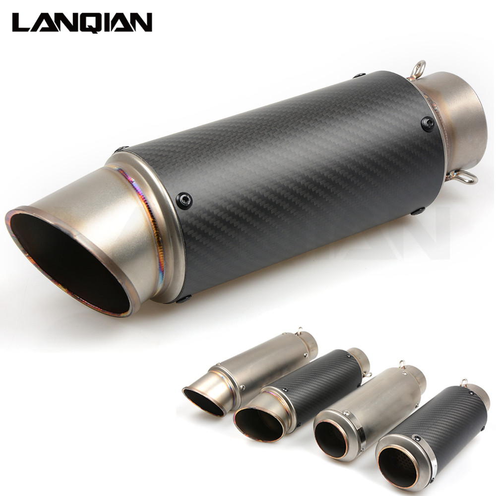 51/61mm Motorcycle Exhaust Pipe Moto GP Escape Exhaust Scooter/Sport Exhaust For R6 R1 KAWASAKI Z750 ER6N ZX10R Z1000 GSXR 600 motorcycle gp exhaust muffler 51mm moto escape exhaust pipe dirt bike motorbike scooter for honda cbr250 cb400 cbr600 z750 er6n