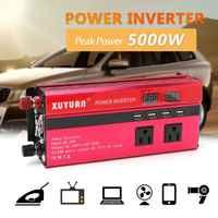 Omvormer 12 V/24 V 220V 5000W Piek Omvormer Converter Transformator Sinus Inversor 12 v/24 V 110V + Lcd Display