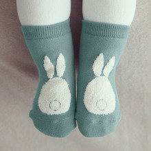 Girls Boys Baby Socks Cotton Casual Meias Infantil Anti Slip Kids Socks Rabbit Design