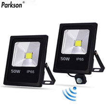 Led Flood Light Outdoor Spotlight Motion Sensor Floodlight 10W 30W 50W Wall Lamp Reflector IP65 Waterproof Garden 220V Lighting(China)