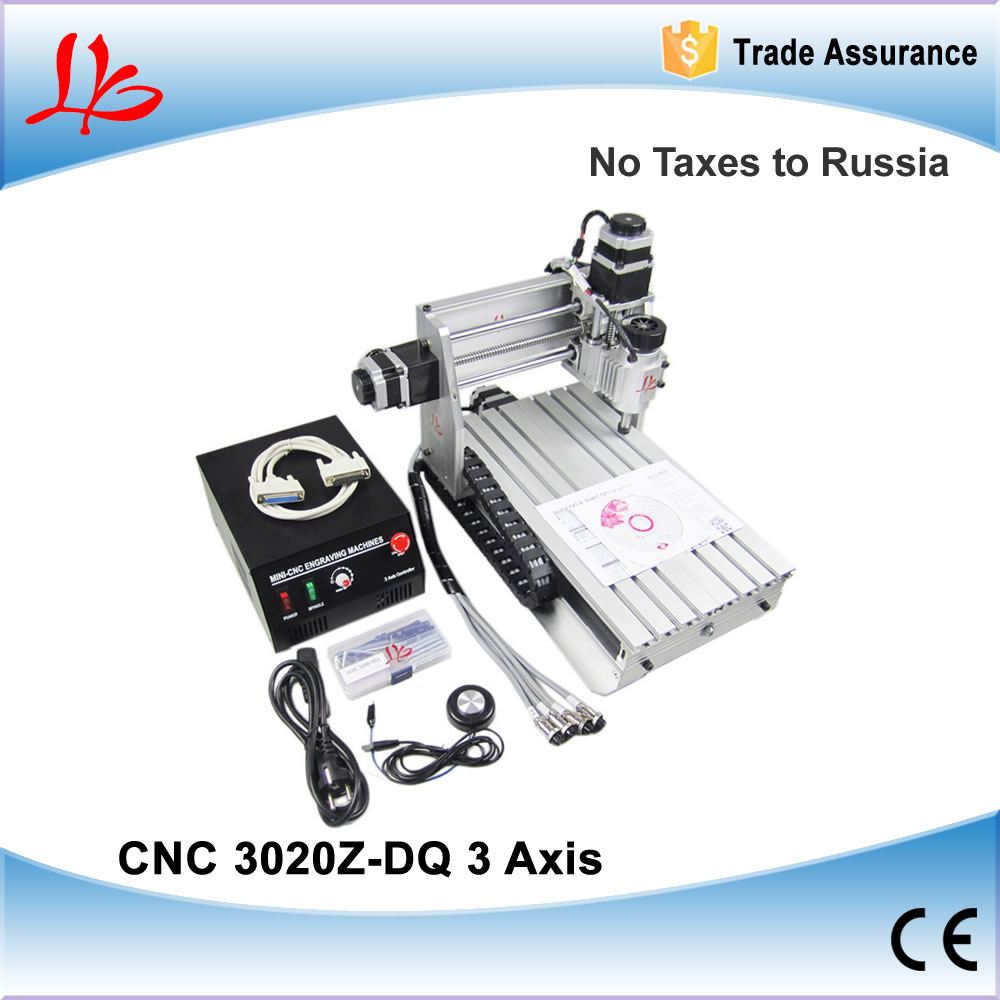 No taxes to Russia CNC 3020Z-DQ engraving machine, CNC3020 drilling milling machine. mini CNC 3020 router for woods PCB plastic