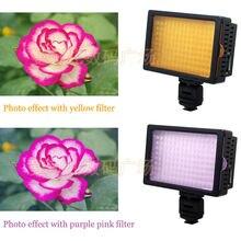 H ONGDAK HD-160 HD 160 LEDโคมไฟแสงวิดีโอ12วัตต์1280LM 5400พัน/ 3200พันหรี่แสงได้สำหรับCanon Nikon P entaxกล้องDSLRกล้องวิดีโอ