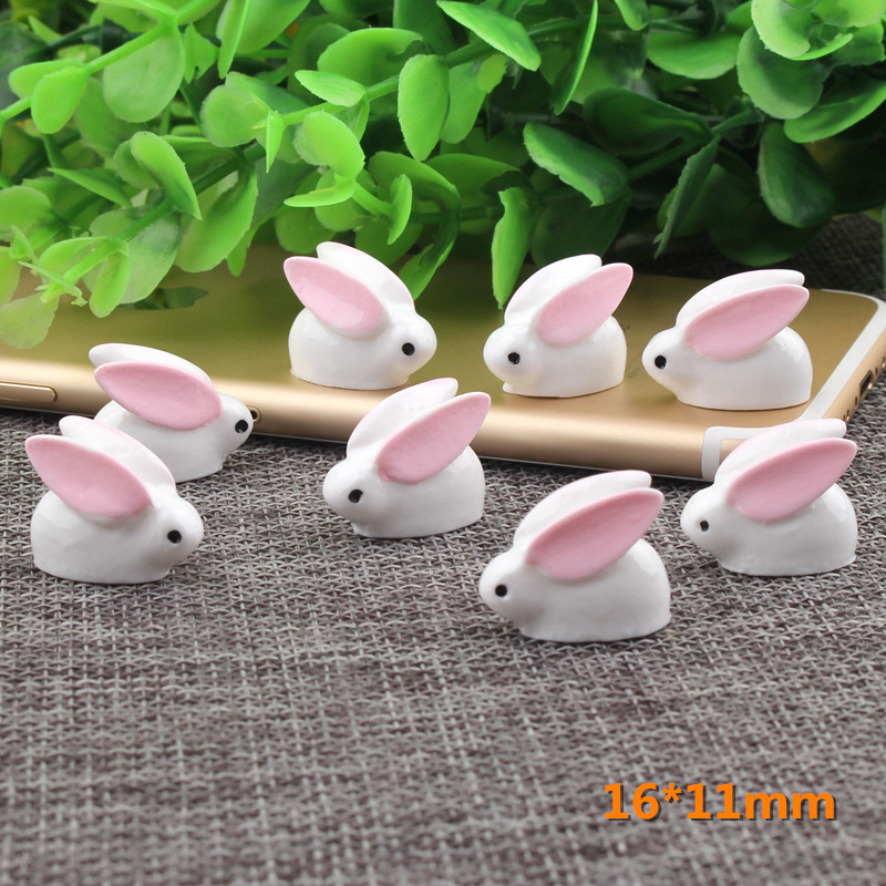 10pcs 3d Bunny Diy Resin Accessories Micro-landscape Dust Plug Diy Hairpin Hair Rope Rabbit Dollhouse For 1/6 Barbi Blyth Doll Fashionable And Attractive Packages