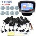 Asistente de Aparcamiento Sistema de aparcamiento 8 Sensores Del Coche Pantalla LCD Sensores de Reversa de reserva Bi Bi Alarma de Alerta de Sonido 44 colores selección