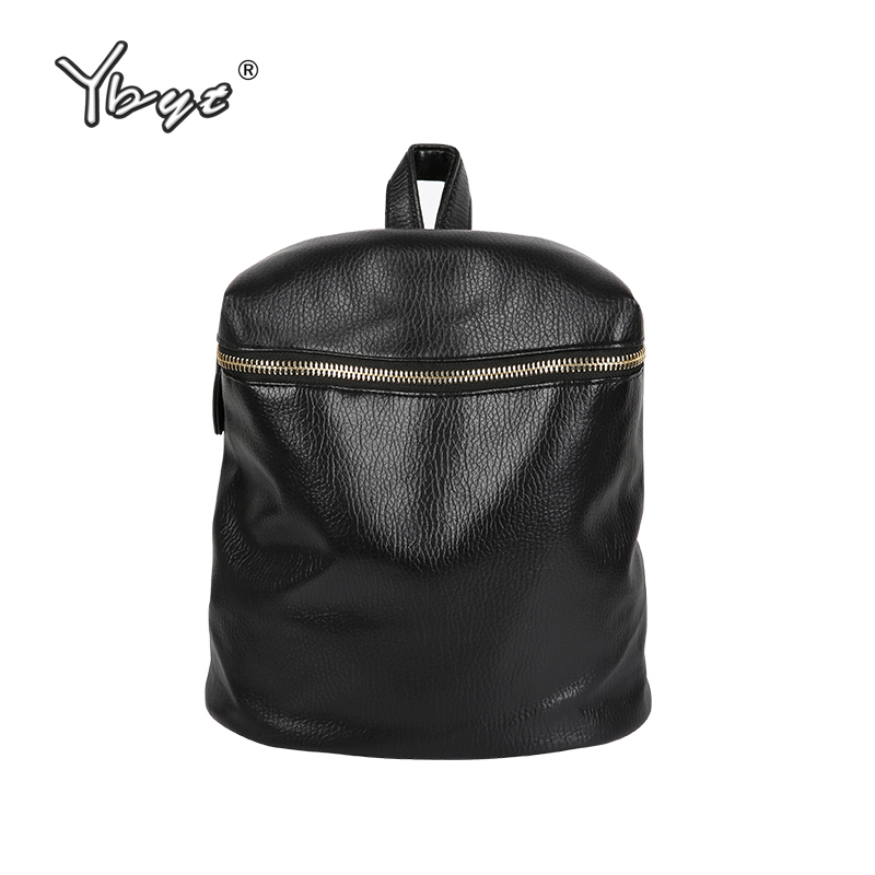 YBYT brand 2018 new preppy style solid women backpack hot sale ladies PU leather travel bag waterproof student school backpacks