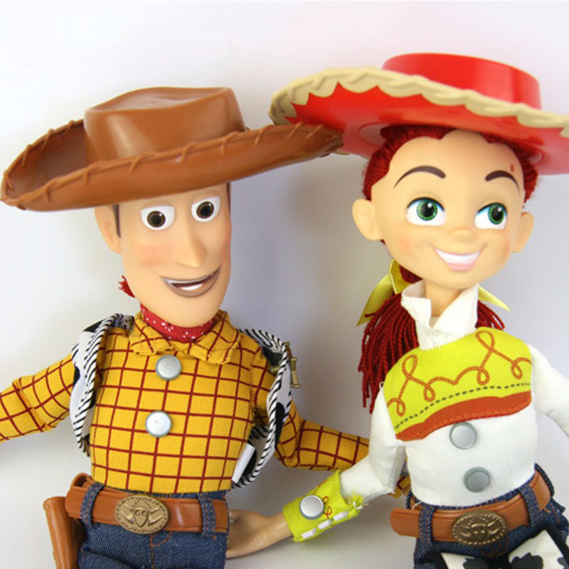 pixar toy story 3 talking woody jessie pvc action figure. Black Bedroom Furniture Sets. Home Design Ideas