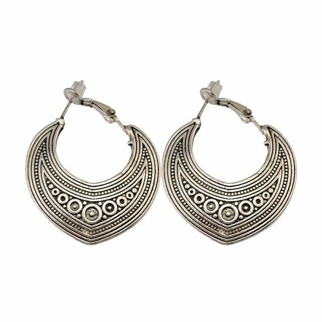 2018 Gypsy Ethnic Silver Gold Metal Earring Drop Flower Fringe Earrings  Indian Thailand Pakistan Afghanistan Boho Jewelry Brinco 5a3de5f26b86