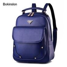 Bokinslon Повседневное Для женщин S рюкзак небольшой свежий дамы рюкзак модные однотонные Цвет из искусственной кожи Для женщин дизайнер рюкзак