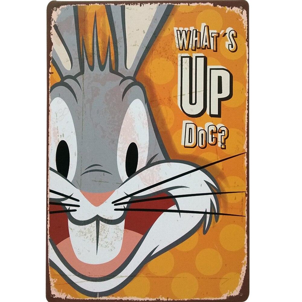 Póster de película de cine 20x30cm con diseño de conejo, placa de estaño Retro, placa de dibujos animados estilo americano IKOKY Anal Plug dentro de la bola de Metal Anal erótico cuentas Plug tapón Anal próstata masajeador juguetes sexuales para Mujeres Hombres masturbación