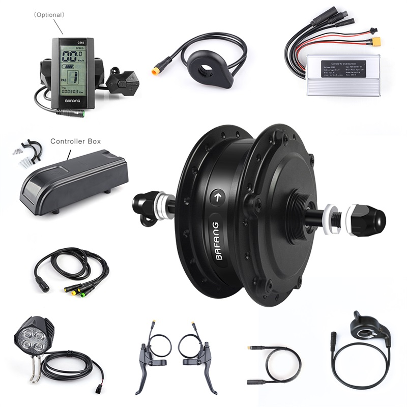 48V 350W Bafang Electric Bike Rear Hub Motor Conversion Kit 20 26 E Bicycle With 850C