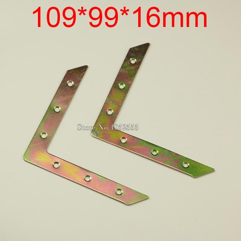 10PCS 109*99*16mm metal furniture corners angle br...