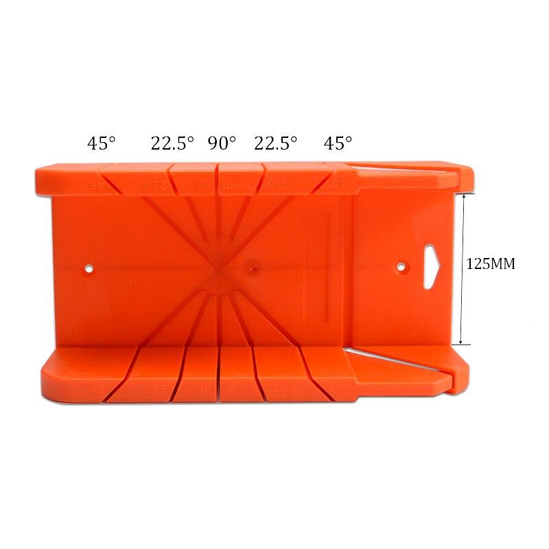 Kunststoff Gehrung Box Mit Zurück Kreissäge Spann Schnitte Slots 45 oder 90 Grad Schrank Winkel Hand Werkzeuge
