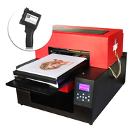 DIY T shirt Printer Automatic A3 Flatbed Printer For White and Dark T shirt & Portable Handheld Printer Packing Inkjet Printer