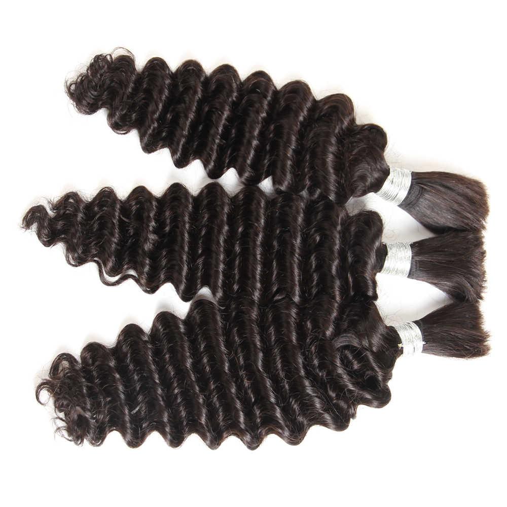Rebecca перуанские Remy глубокая волна объемные человеческие волосы для плетения 3 пучка Бесплатная Доставка от 10 до 30 дюймов натуральный цвет для наращивания