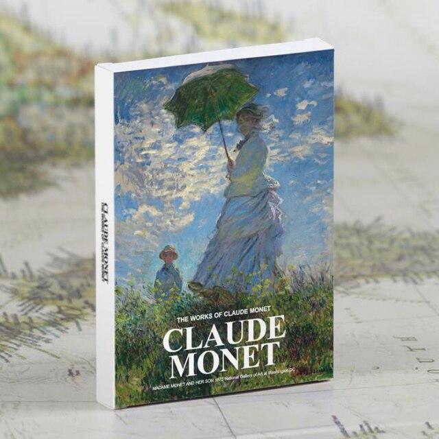 claude monet a blank journal plus 6 postcards