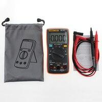 1 ADET Yeni ANENG AN8001 Turuncu Dijital Multimetre 6000 Sayımlar Arka AC/DC Ampermetre Voltmetre Ohm Taşınabilir Metre T10