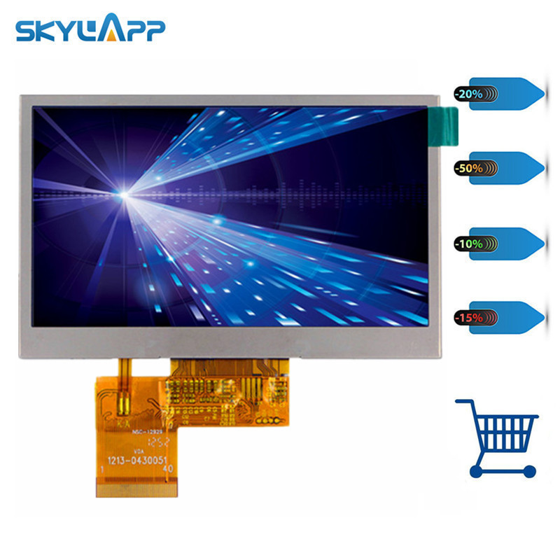 Skylarpu 4.3 inch LCD screen for HSD043I9W1 HSD043I9W1-A01 HSD043I9W1 REV:0 -A00 LCD screen with touch panel digitizer panel
