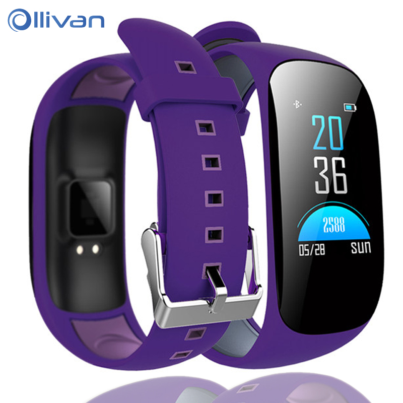 Ollivan Fashion Smart Band Fitness Tracker Smart Bracelet Color LCD Wristband Watch Band Bracelet For IOS Android Smart Bands