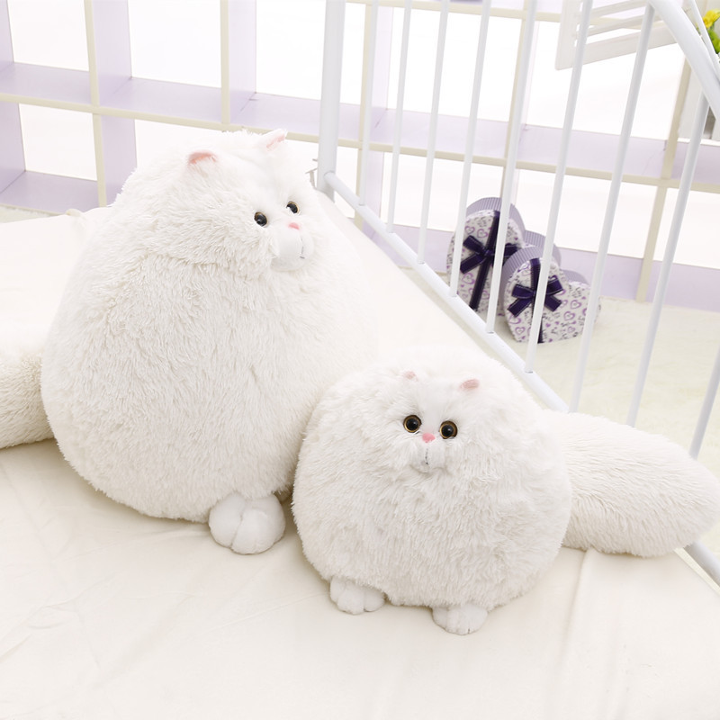 2018 Long tail cute plush toy simulation Persian cat doll fat puss stuffed pp cotton plush toys birthday gift