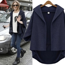 Women Spring And Autumn Coat Short Batwing Sleeve Wool Oversize Coats For Plus Size Overcoats Female