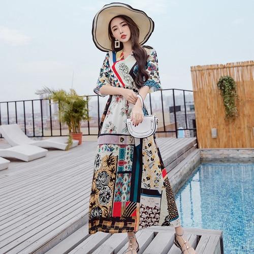 2018 New Spring Summer Fashion Thailand National Wind ...