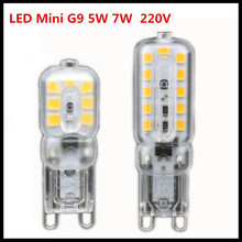 LED G9 Lamp 5W 7W 9W Mini LED Bulb AC 220V SMD2835 Spotlight Chandelier High Quality Lighting Replace Halogen Lamps(China)
