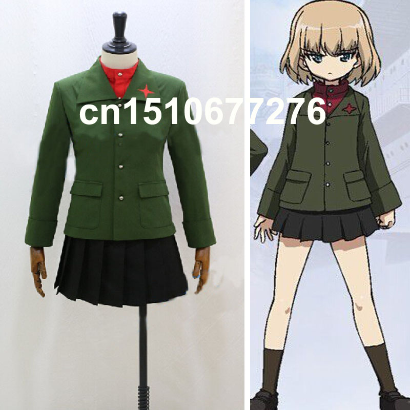 Anime Girls and Panzer katyusha School Uniforms Cosplay Costume Custom-made 2018 guilty gear xrd sign dizzy uniforms cosplay costume custom made