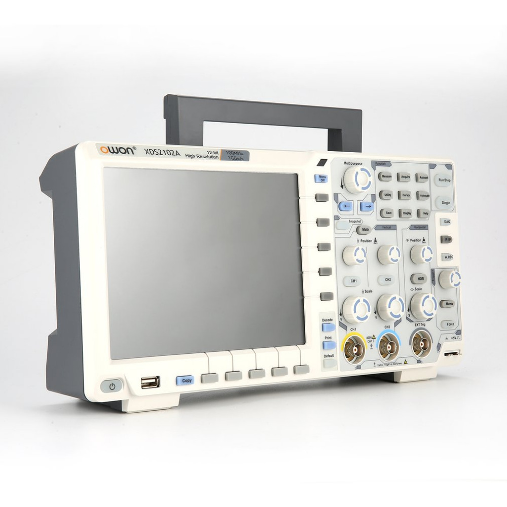 OWON XDS2102A Dual Channel Deep Memory LCD Display Digital Storage Oscilloscope Scopemeter Scope Meter 100MHz 1GSa/s