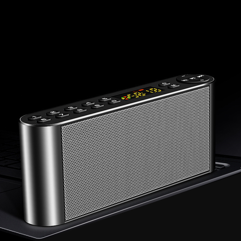 DPRUI Bluetooth Speaker Radio Portable Wireless Phone U Disk Speakers Soundbar with Mic TF FM Radio USB Sound Box portable mini led bluetooth speakers wireless small music audio tf usb fm light stereo sound speaker for phone xiaomi with mic