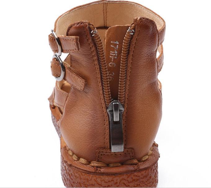 Ayakk.'ten Kadın Sandaletleri'de Yeni yüksek kalite Ulusal rüzgar orijinal marka kadın sandalet el yapımı deri sandalet f kadın deri sandalet boyutu 35 40'da  Grup 3