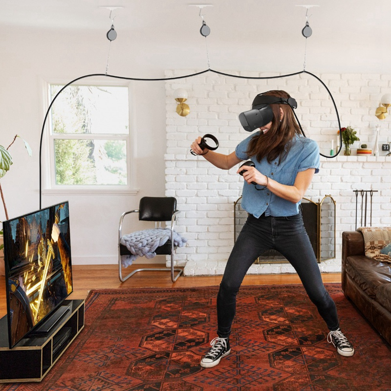 AMVR Oom VR Cable Management System Ceiling Pulley System VR Accessories For HTC Vive/Vive Pro/Oculus Rift/Psvr/Samsung Odyss
