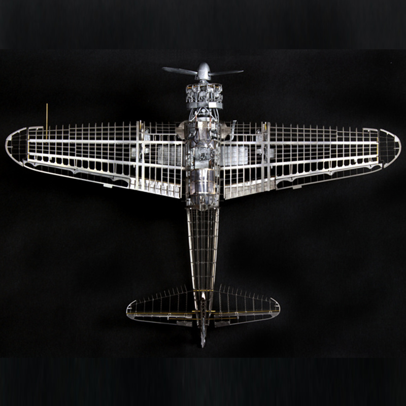 High-end DIY Assembly Model 1/32 All-metal Zero-type Fighter Zero War Precision Internal Skeleton Assembly Model Educational Toy 1 35 assembly model e 100 frederick scher type containing metal gun turret