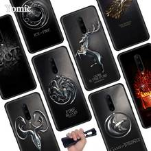 Game of Throne House logo Black Soft Case for Oneplus 7 Pro 7 6T 6 Silicone TPU Phone Cases Cover Coque Shell