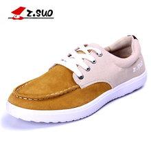 Z.SUO New Arrival Men's Casual Shoes Hot Sale Lace Up Style Breathable Cow Suede Upper Spring Autumn Male Leisure Shoes ZS6868