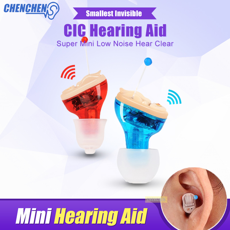Ear Sound Amplifier Hearing Aid for Hearing Loss Elderly Deaf Audiphone Mini Invisible In The Ear Hearing AIDS Ear Care micro ear hearing aid mini hearing aids for the elderly for right ear left ear hearing amplifier invisible hearing device c 108
