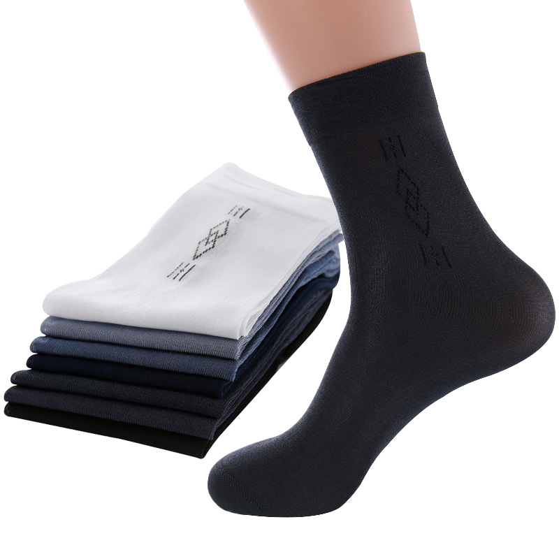 5pairs Men   Socks   High Quality Business Casual Male Short   Socks   Summer Autumn Silk Thin Transparent Durable Breathable   Sock   Meias