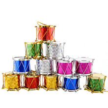 12PCS Christmas Tree Ornaments Small Drums Decorations For New Year Party Home Decor
