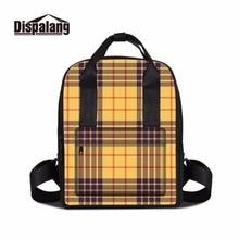 Dispalang классический плед девушки ноутбук рюкзак студент квадратных школьные сумки женские Повседневная сумка На открытом воздухе путешествия totebag