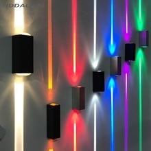 CREE водонепроницаемый наружный светодиодный светильник 3-6 Вт Настенный светильник наружный черный 15 градусов узкий светильник для крыльца