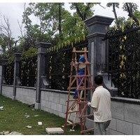 HENCH садовая кованная железная изгородь 8'x5' забор и ворота