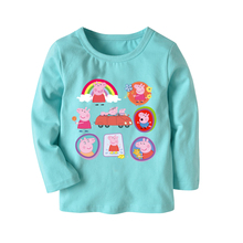 Kids Boy Girl Long Sleeve T-shirt Cotton Cartoon Piggy Children Sweatshirt Spring Summer Autumn Soft Casual Baby T Shirt