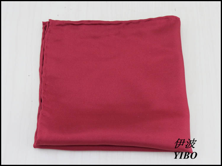(1 Pcs/lot) 100% Silk Men's Pocket Square/gentleman Must Dark Red Handkerchief/Manual Package Side Desgin,free Shipping
