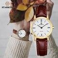 STARKING 6MM Dünne Sapphire Frauen Uhr Edelstahl Japan Quarz Movt Mode Vintage Damen Handgelenk Uhren Relogio Feminino