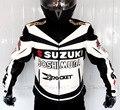 Motocicleta traje de carreras Profesional Classic racing chaqueta de cuero SUZUKI PU invierno overol ropa de andar