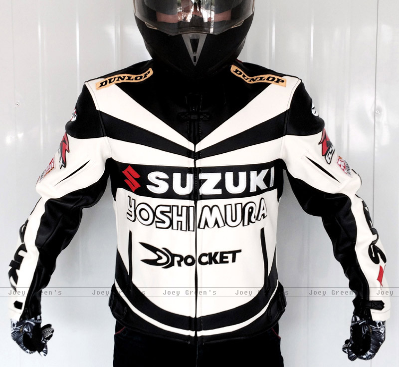 Motorcycle racing suit Professional Classic racing jacket for SUZUKI leather PU overalls winter motorcycles riding clothes shipping car racing suit and f1 motorcycle karting club drift racing suit connected clothes professional racing suits